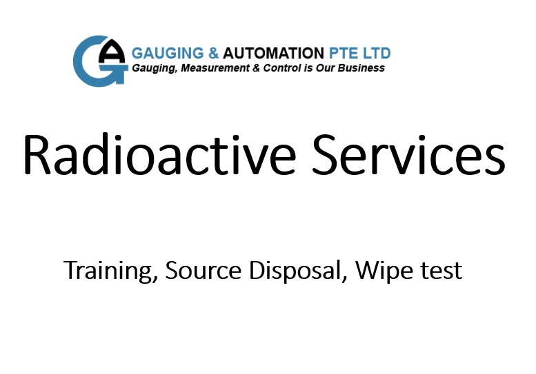 Gauging & automation Radioactive services